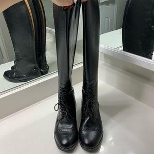 Black ladies riding boots